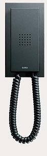 Квартирная станция Standard с телефонной трубкой Gira E2, цвет антрацит.