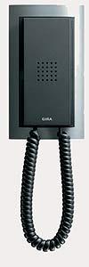Квартирная станция Standard с телефонной трубкой Gira Event, цвет под алюминий/антрацит